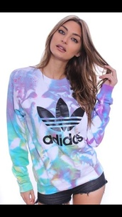 adidas originals,tie dye,jumper,sweater