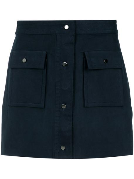 EGREY skirt short skirt short women spandex cotton blue