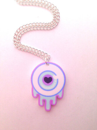 jewels kawaii eyeball necklace pastel pastel goth