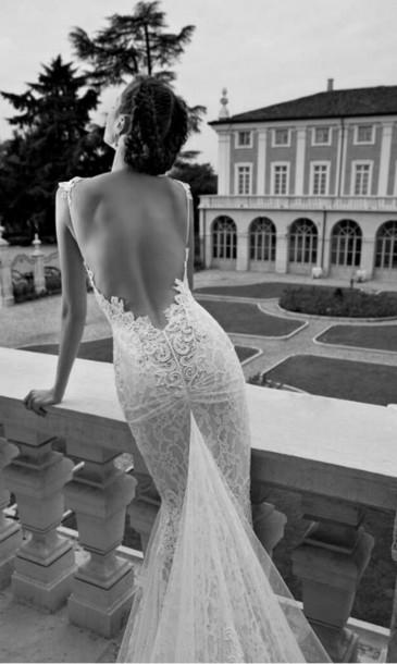 dress wedding dress open back prom dress