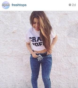 jacket blue jeans drawstring elastic freshtops instagram