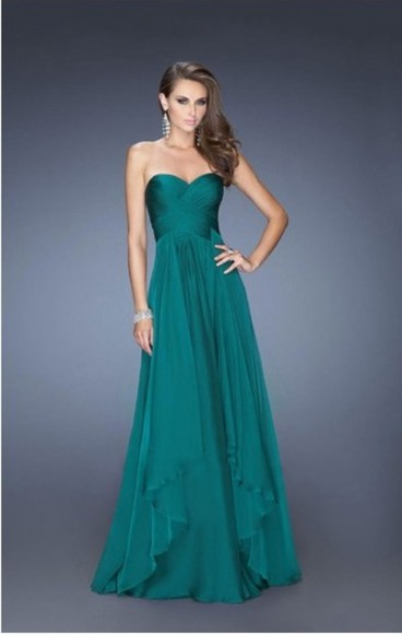 dress sweetheart neckline prom dress long prom dresses a-line dresses layers