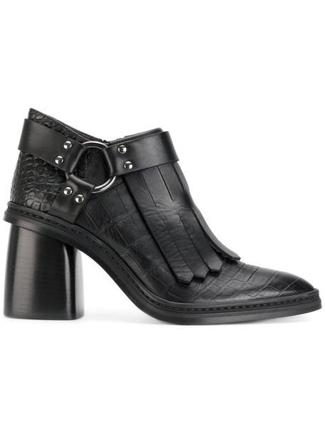 Antonio Marras women ankle boots leather black shoes