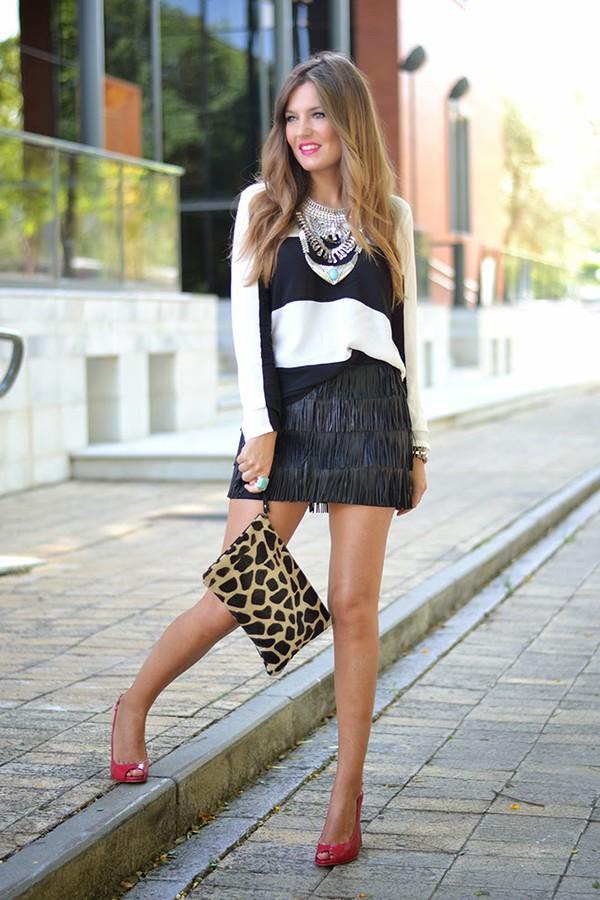 mi aventura con la moda blogger top t-shirt jewels bag
