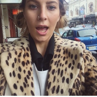 leopard coat hipster indie winter outfits leopard print fur fur coat
