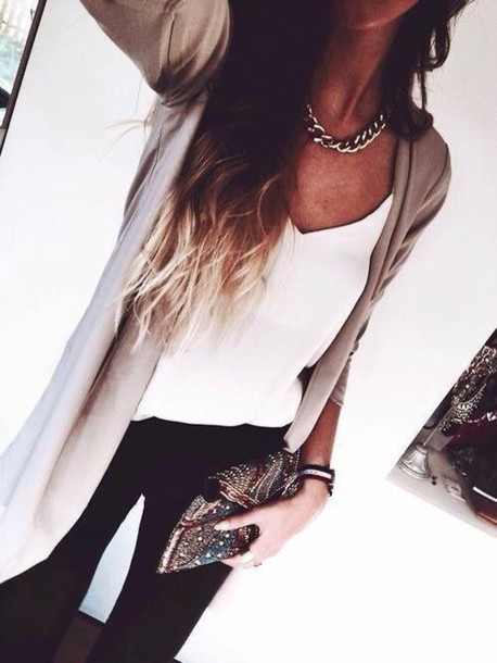 jewels clutch boho chic cardigan blouse