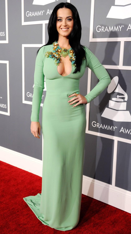 Fashion mint green katy perry dress long celebrity dresses long sleeve sexy vestido de festa red carpet dresses 2014
