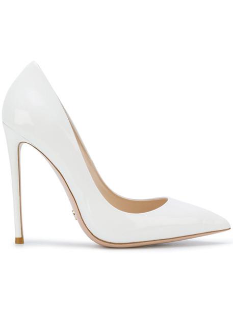 Gianni Renzi women pumps leather white shoes