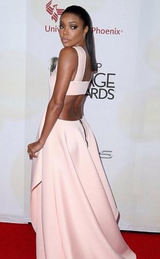 dress gabrielle union backless dress pink dress light pink