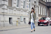 shiny sil,blogger,shirt,top,shoes,jacket,jeans,bag,jewels