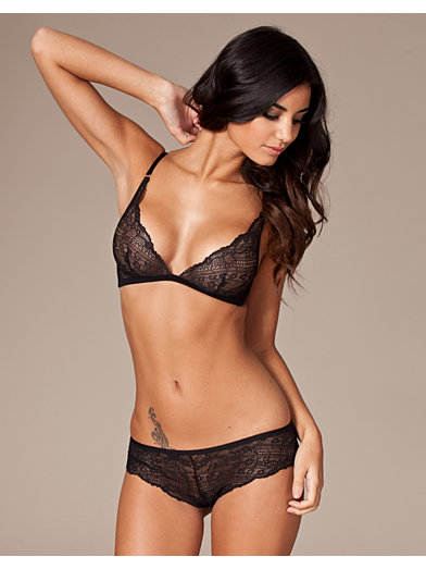 Envy Unlined Triangle Bra - Calvin Klein - Black - Bras & Tops - Underwear - Women - Nelly.com
