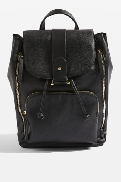Topshop backpack black bag