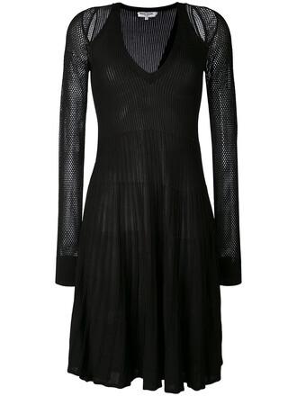 dress mesh women black