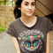 Gray owl and letter print crop tee - choies.com