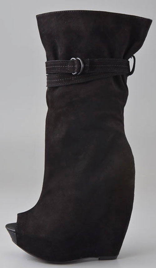 "Report signature ""pearsall"" suede wedge boot «  theshoegoddess.com"