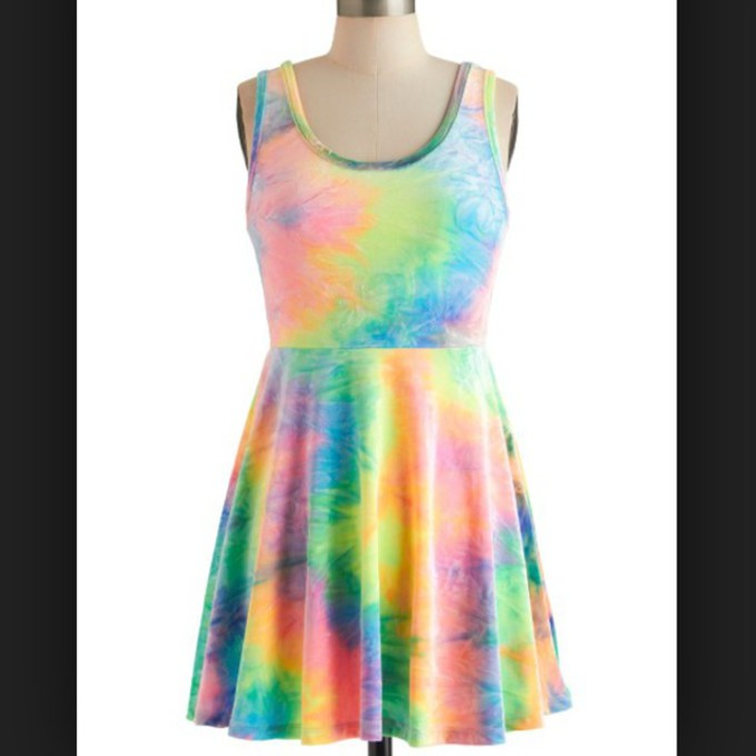 Tie Dye Dress Neon Tie Dye Dress Color Pattern