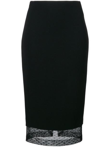 Victoria Beckham skirt pencil skirt women lace black