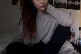 grey sweater acacia brinley acaciaclark tumblr sweater acacia acaciacutie instagramfashion instagram wehearit