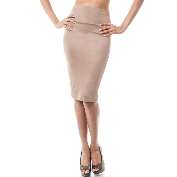 Taupe Pencil Skirt - Dress Ala