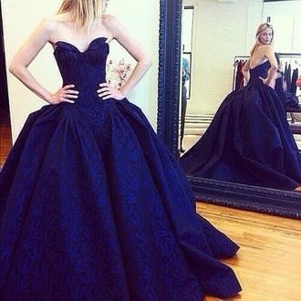 dress princess dress blue blue dress royal blue dress royal blue prom dress ball gown dress