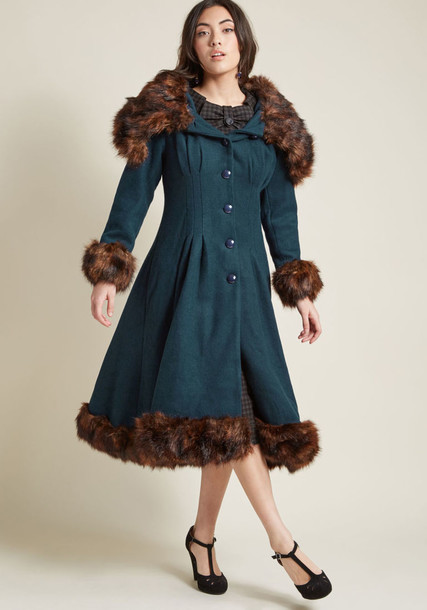 collectif coat ocean love green
