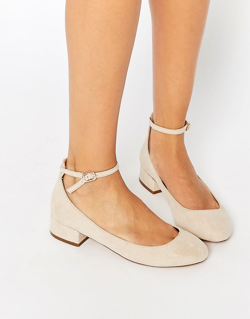 Blink Ankle Ballerina Heeled Shoes Low At Strap thdsQr