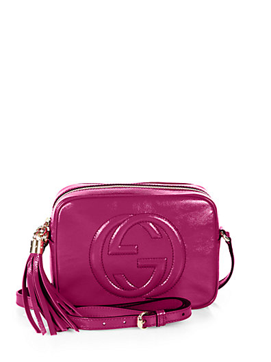 Gucci - Soho Patent Leather Disco Bag - Saks.com