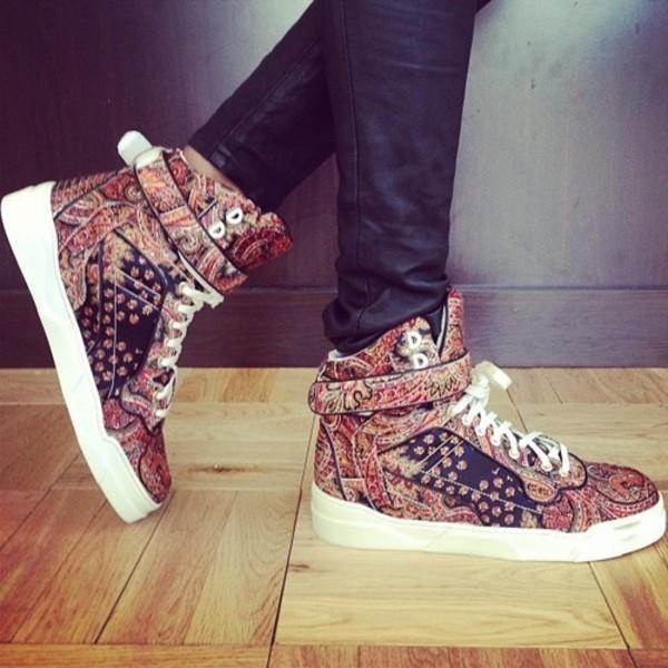 Shoes Sneakers Paisley Print Jordan Nike Adidas