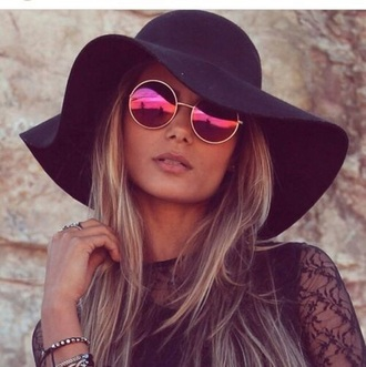 hat black beach sunglasses sunhat hair accessory