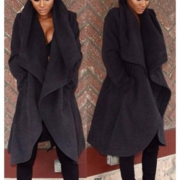bab267e7e53 coat black black coat warm winter coat winter outfits streetstyle  streetwear urban fall outfits fall outfits