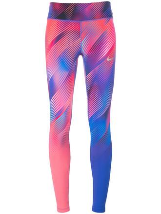 leggings printed leggings women purple pink pants