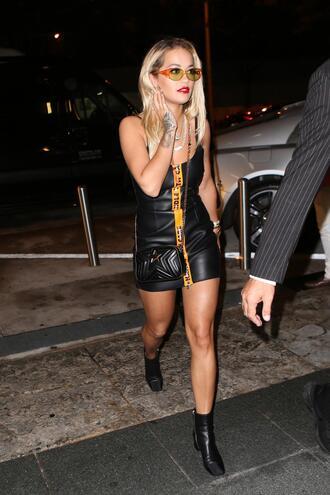dress midi dress ankle boots rita ora mini dress black dress