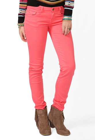 Colored Skinny Jeans | FOREVER21 - 2030552279