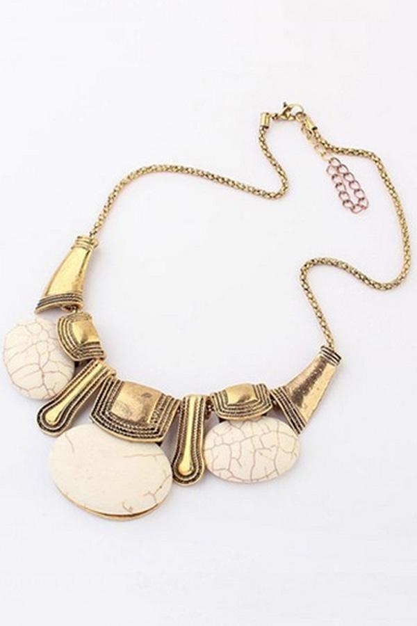 Boho Turquoise Pendant Necklace - OASAP.com