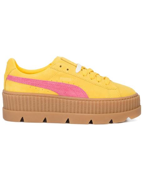 Fenty x Puma women sneakers suede yellow orange shoes