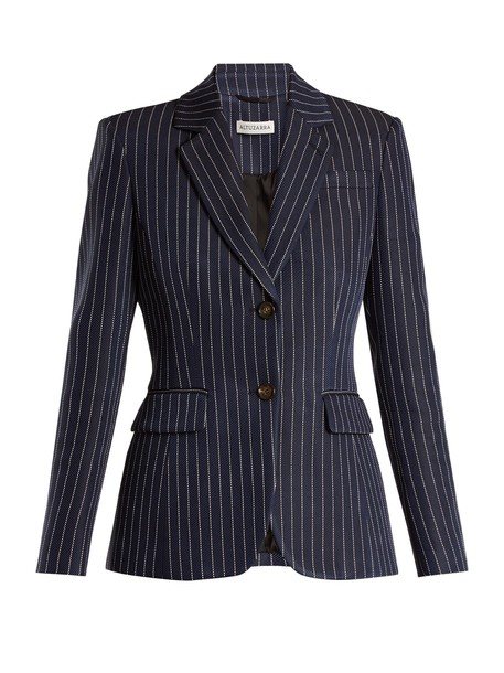 Altuzarra blazer navy white jacket