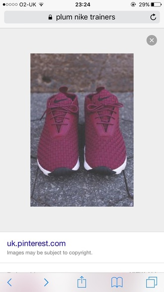shoes plum marroon trainers nike