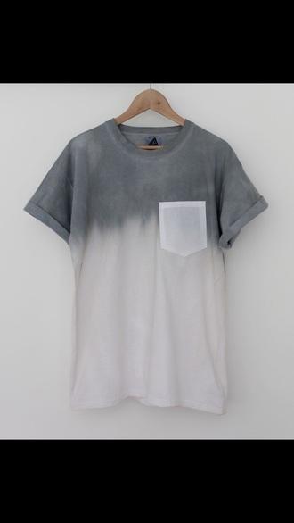 shirt ombre shirt tshirt pocket t-shirt ombre