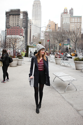 steffy's pros and cons,blogger,coat,hat,skirt,top