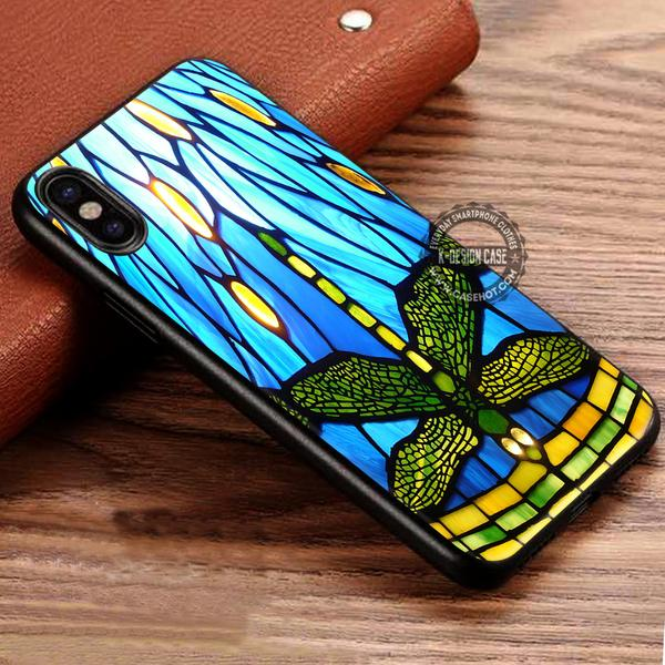Style Stained Glass Dragonfly iPhone X 8 7 Plus 6s Cases Samsung Galaxy S8 Plus S7 edge NOTE 8 Covers #iphoneX #SamsungS8