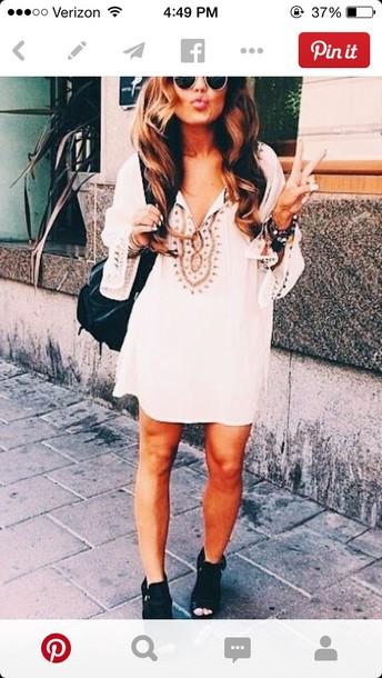 dress white dress gold