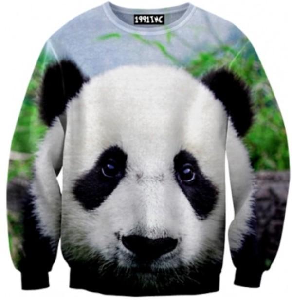 sweater sweatshirt panda
