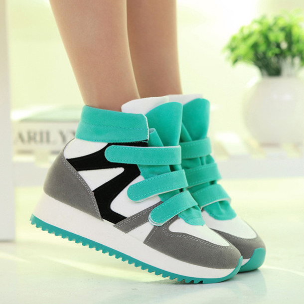 Shoes: high style shoes, increasing sneakers women, sneakers, lace ...