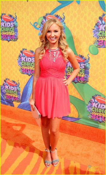 pink pink dress orange carpet kids choice awards Audrey Whitby