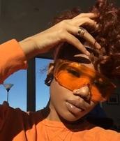 sunglasses,big frame glasses,orange