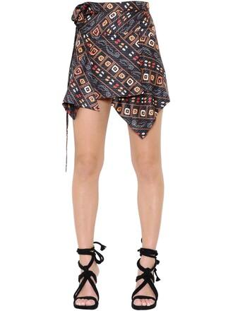 skirt wrap skirt silk