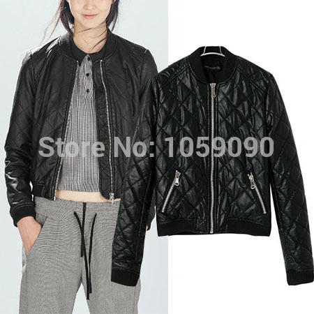 Aliexpress.com : Buy 2014 za fall and winter clothes new European and American fashion casual loose quilted leather jacket from Reliable jacket baseball suppliers on Vogue Official Online Shop