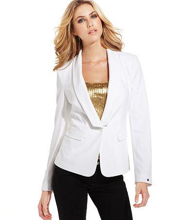 super speciali più recente sconto GUESS Jacket, Long-Sleeve V-Neck Blazer - Womens Jackets & Blazers ...