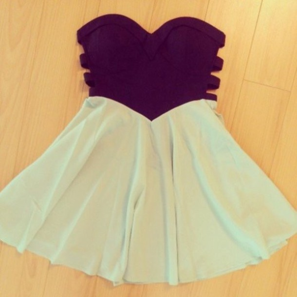 dress, blue, short dress, clothes, summer, swag, girl, black