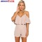 Aliexpress.com : buy 2016 elegant red ruffles women jumpsuit romper sexy off shoulder high waist overalls girls one piece chiffon playsuit fa0287 from reliable jumpsuit white suppliers on anyfash